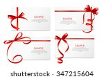 gift card with red ribbon and... | Shutterstock .eps vector #347215604