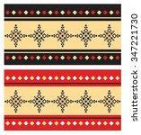 eastern folk pattern | Shutterstock .eps vector #347221730