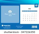 desk calendar 2016 | Shutterstock . vector #347226350