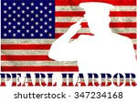 pearl harbor. remembrance day.... | Shutterstock .eps vector #347234168