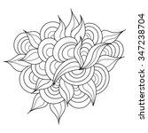 Hand Drawn Zentangle Element....