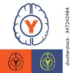 human brain generation y new... | Shutterstock .eps vector #347242484