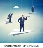 direction. business... | Shutterstock . vector #347242868