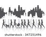 people walking design  vector... | Shutterstock .eps vector #347251496