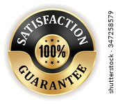 black 100 percent satisfaction... | Shutterstock .eps vector #347258579