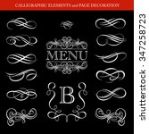 calligraphic elements and page... | Shutterstock .eps vector #347258723
