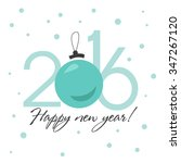 happy new year 2016 card ... | Shutterstock .eps vector #347267120