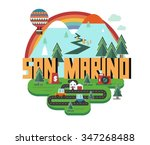san marino in europe is a... | Shutterstock .eps vector #347268488
