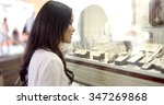 close up view of girl looking... | Shutterstock . vector #347269868