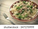 Bowtie Pesto Pasta With Ground...