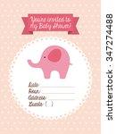 baby shower design  vector... | Shutterstock .eps vector #347274488