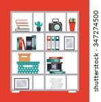 work place design  vector... | Shutterstock .eps vector #347274500