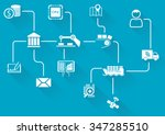 digital value chain of wireless ... | Shutterstock .eps vector #347285510