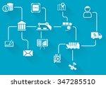digital value chain of wireless ... | Shutterstock .eps vector #347285510