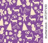 seamless pattern on vintage... | Shutterstock .eps vector #347297150