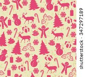 seamless pattern on vintage... | Shutterstock .eps vector #347297189