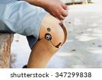 prosthetic leg  the poor... | Shutterstock . vector #347299838