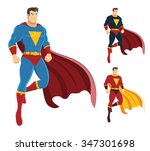 male superhero hovering in the... | Shutterstock .eps vector #347301698