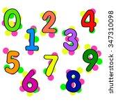 a set of digits   Shutterstock .eps vector #347310098