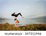 Young Woman Doing  Yoga...