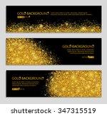 gold sparkles on black... | Shutterstock .eps vector #347315519