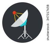 satellite dish or antenna flat...