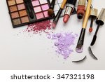 makeup products on white... | Shutterstock . vector #347321198