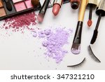 makeup products on white... | Shutterstock . vector #347321210