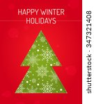 happy winter holiday greeting... | Shutterstock .eps vector #347321408