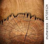 cracked wood board | Shutterstock . vector #347335124