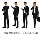 business man full body color... | Shutterstock .eps vector #347337860