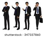business man full body color... | Shutterstock .eps vector #347337860