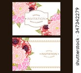 wedding invitation cards with... | Shutterstock .eps vector #347342279