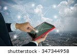 businessman make order online... | Shutterstock . vector #347344958