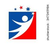 reach star logo vector.   Shutterstock .eps vector #347345984