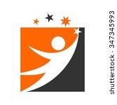 reach star logo vector. | Shutterstock .eps vector #347345993