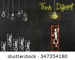 think different concept | Shutterstock . vector #347354180