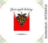 apple's history.vector... | Shutterstock .eps vector #347356913