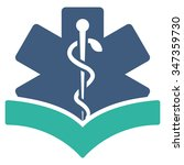 medical knowledge glyph icon....   Shutterstock . vector #347359730