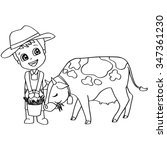 Coloring Book Child Feeding Co...