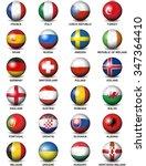 soccer balls concerning flags... | Shutterstock .eps vector #347364410