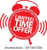 limited time offer red label ... | Shutterstock .eps vector #347367536