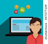 digital marketing and business  ... | Shutterstock .eps vector #347377109