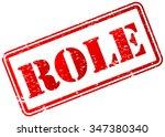 role stamp badge | Shutterstock .eps vector #347380340