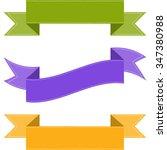colorful ribbon set. stock... | Shutterstock .eps vector #347380988