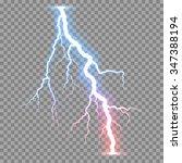 vector realistic lightnings... | Shutterstock .eps vector #347388194