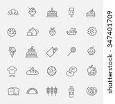 bakery icon set | Shutterstock .eps vector #347401709