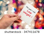 this year i will lose weight... | Shutterstock . vector #347411678