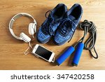 sport shoes  equipment and...   Shutterstock . vector #347420258