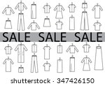 sale clothes black and white | Shutterstock .eps vector #347426150